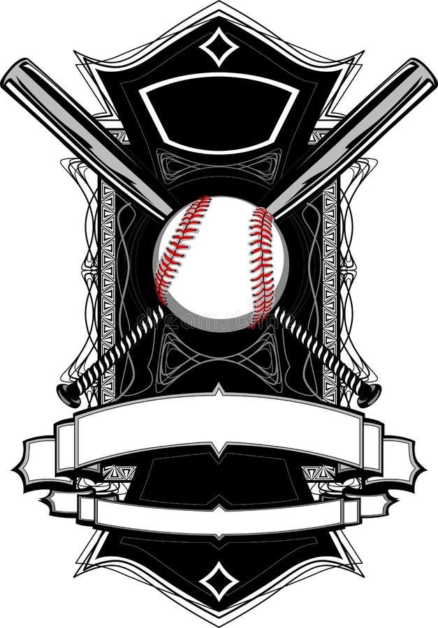 baseball slår till det utsmyckade diagrammet stock illustrationer