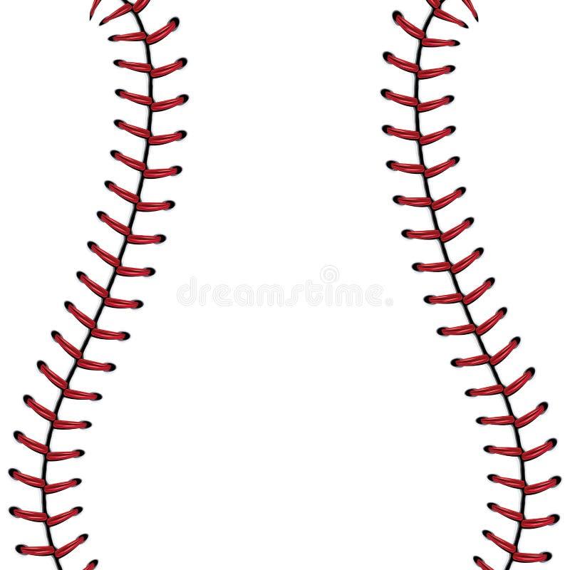 Baseball snör åt bakgrund vektor illustrationer
