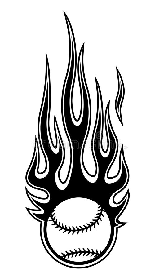 Baseball Fire Logo Stock Illustrations – 284 Baseball Fire