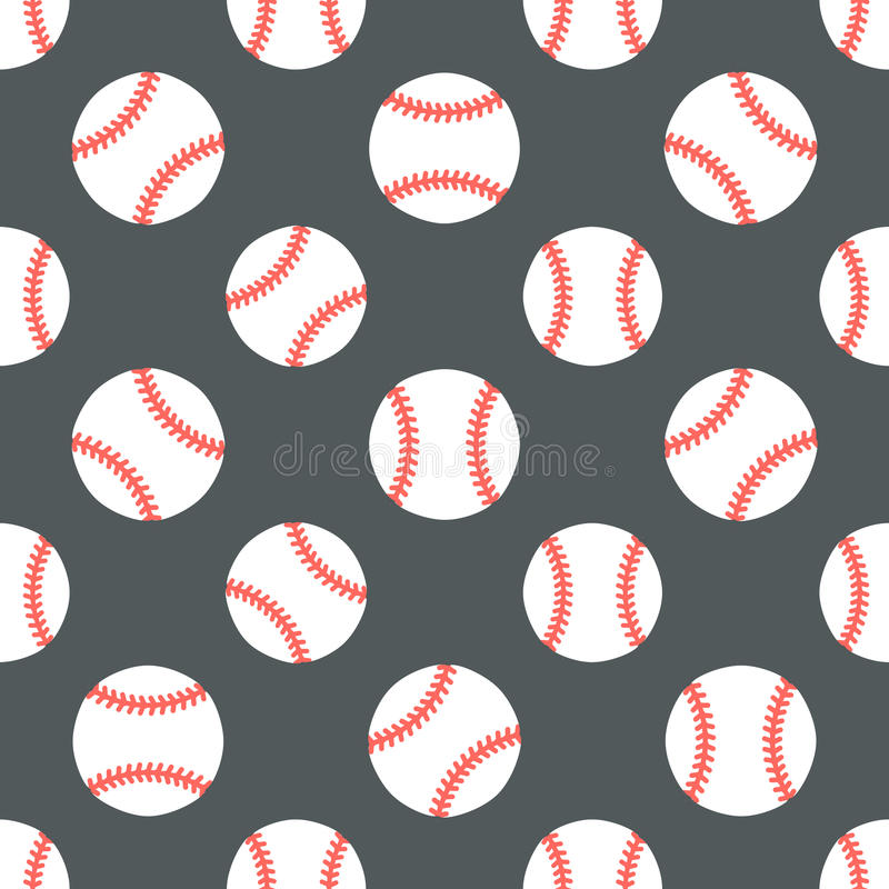 Baseball, softball sport game vector seamless pattern, background with line icons of balls. Linear signs for. Championship, equipment store vector illustration