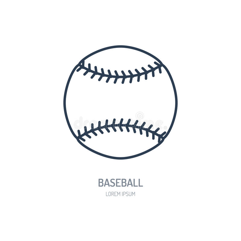 Baseball, softball vector line icon. Ball logo, equipment sign. Sport competition illustration royalty free illustration