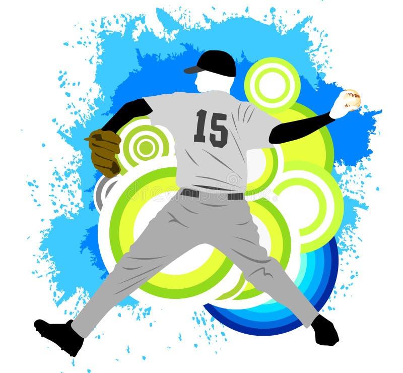 Baseball-Spieler lizenzfreie abbildung