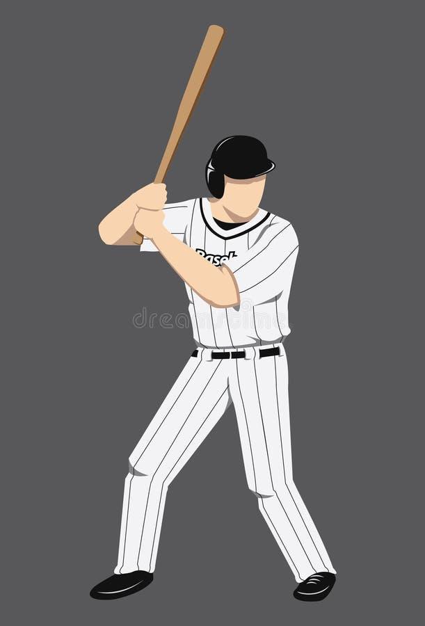 Baseball-Spieler-Zahl lizenzfreie stockfotografie