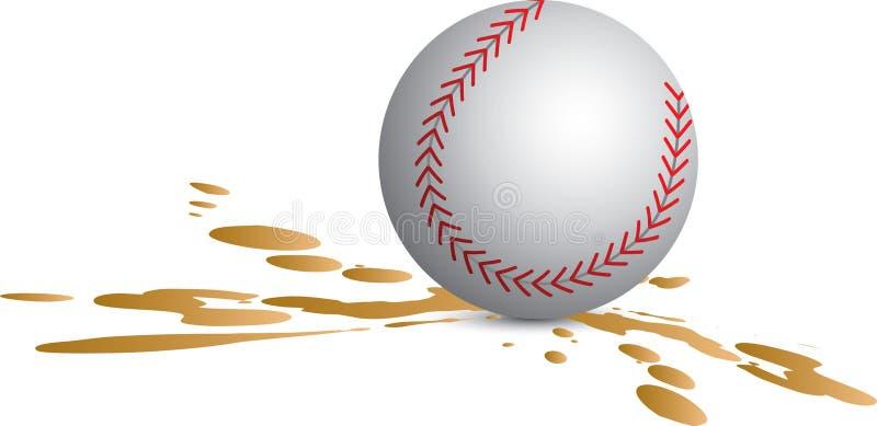 Baseball splat lizenzfreie abbildung