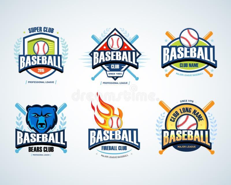 baseball sport badge logo set design template and some elements for