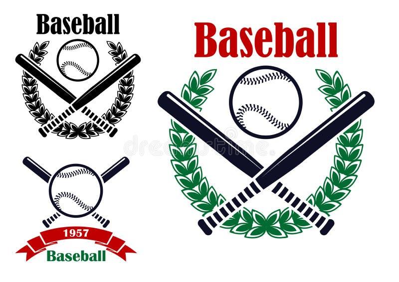 Baseball sporting emblems royalty free stock image