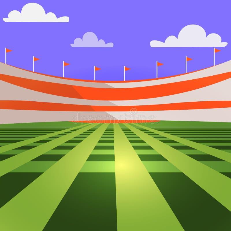 Baseball stadium c lawn and tribunes. Image stock illustration