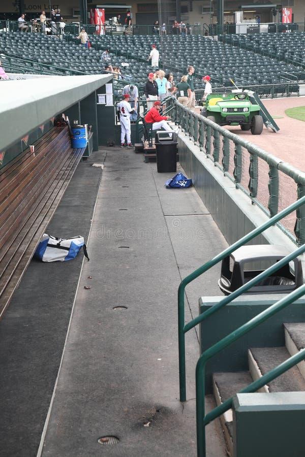 Baseball Stadium Dugout royalty free stock photography