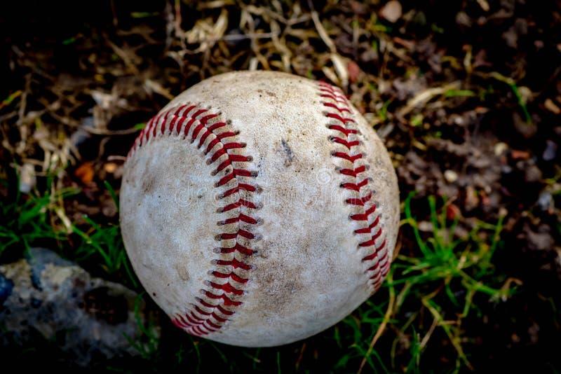 Baseball stagionato pronto a andare fotografia stock