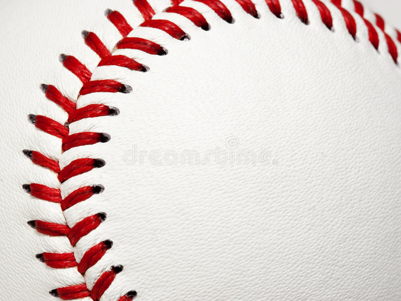 Baseball Stitching Curve royalty free stock photos