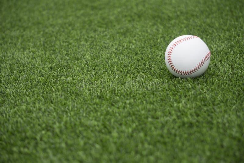 Baseball su erba fotografie stock libere da diritti