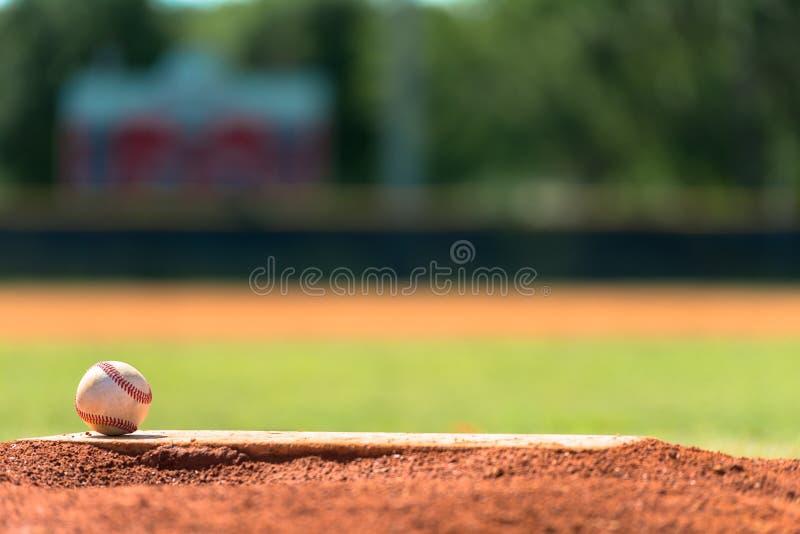 Baseball sul monticello di lanciatori immagine stock libera da diritti