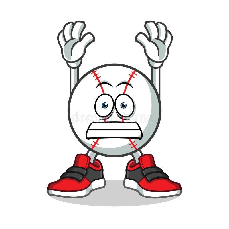 Baseball surrender mascot vector cartoon illustration. This is an original mascot vector illustration