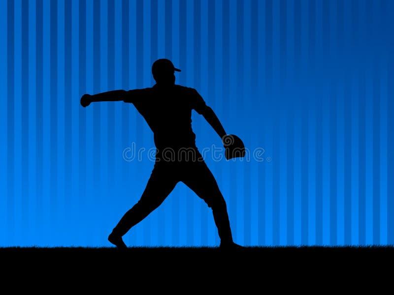 baseball tła niebieski ilustracji