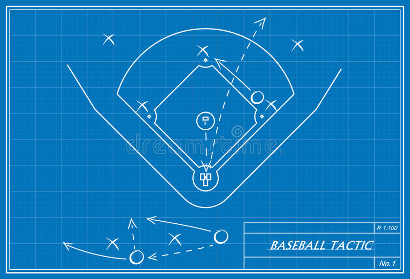 Baseball tactic on blueprint stock illustration illustration of download baseball tactic on blueprint stock illustration illustration of diamond baseball 44943761 malvernweather Image collections