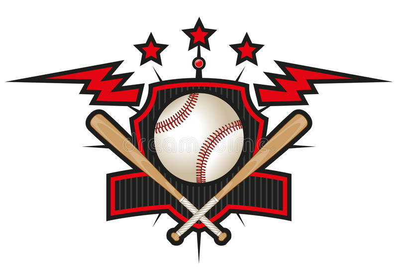 Baseball team logo stock images