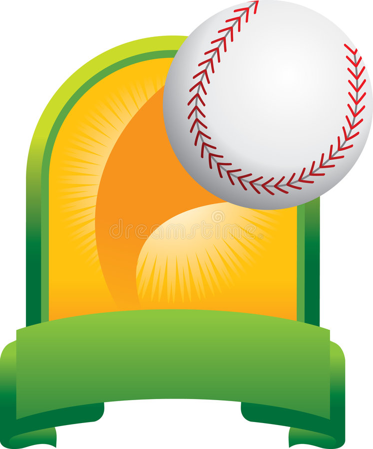 Baseball trophy royalty free illustration