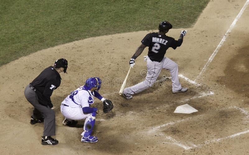 Baseball - tutta la stella Ramirez immagini stock