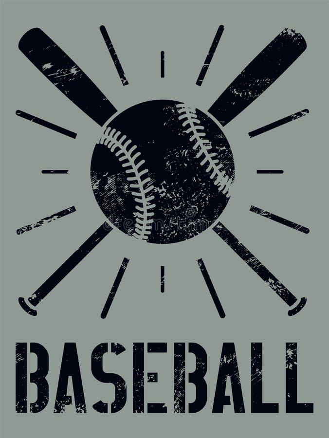 Baseball typographical vintage style grunge poster. Baseball label, badge, icon. Retro vector illustration. vector illustration