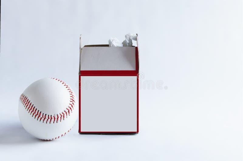 Baseball und Box lizenzfreie stockfotos