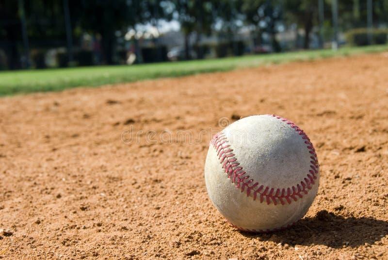 Baseball und Feld stockbild