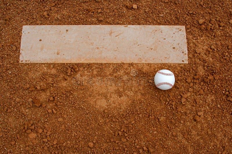 Baseball vicino al monticello di brocche fotografie stock libere da diritti