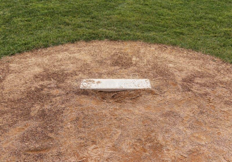 Baseball-Werferhügel stockfotografie
