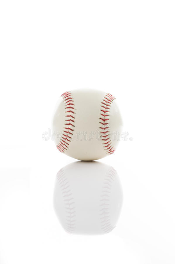 Baseball on white. Background stock photos