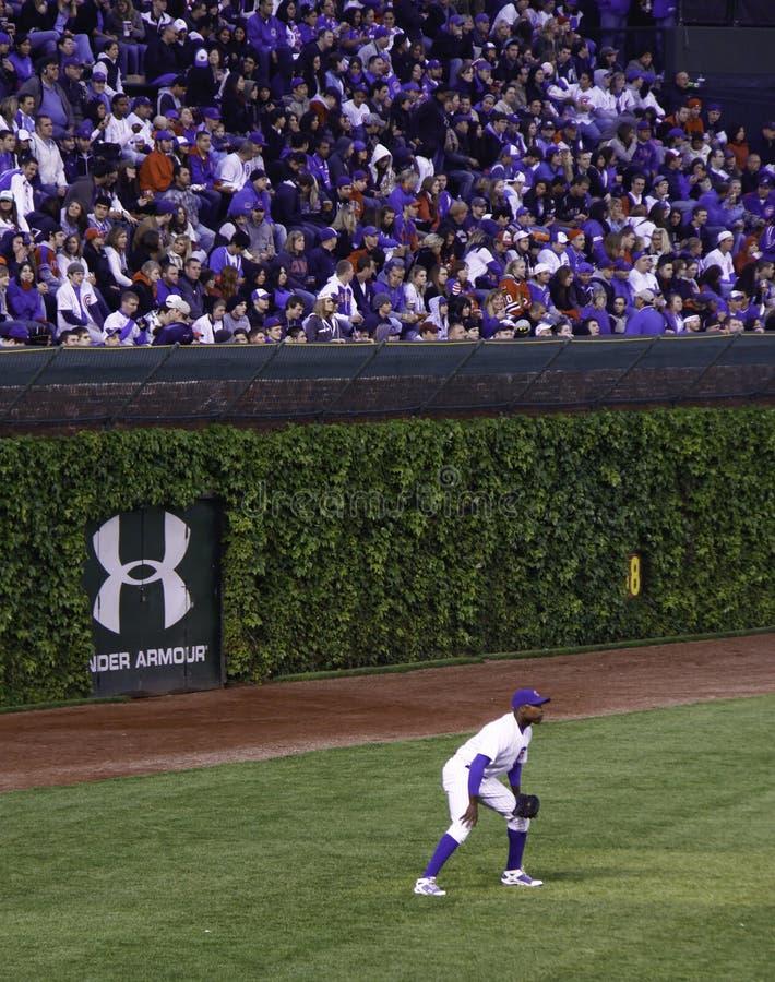 Baseball - Wrigley Pola Historyczne Bluszcza Ściany zdjęcie stock