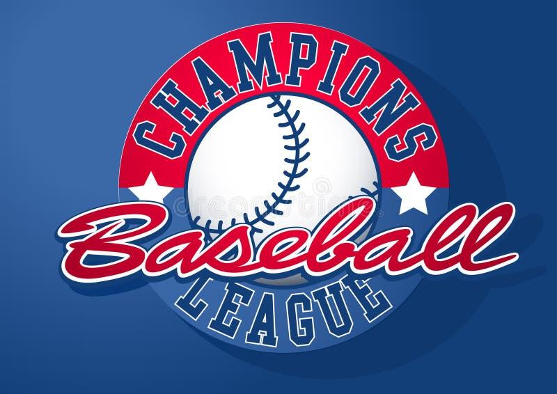 Baseball Wstawia się liga z piłką ilustracja wektor