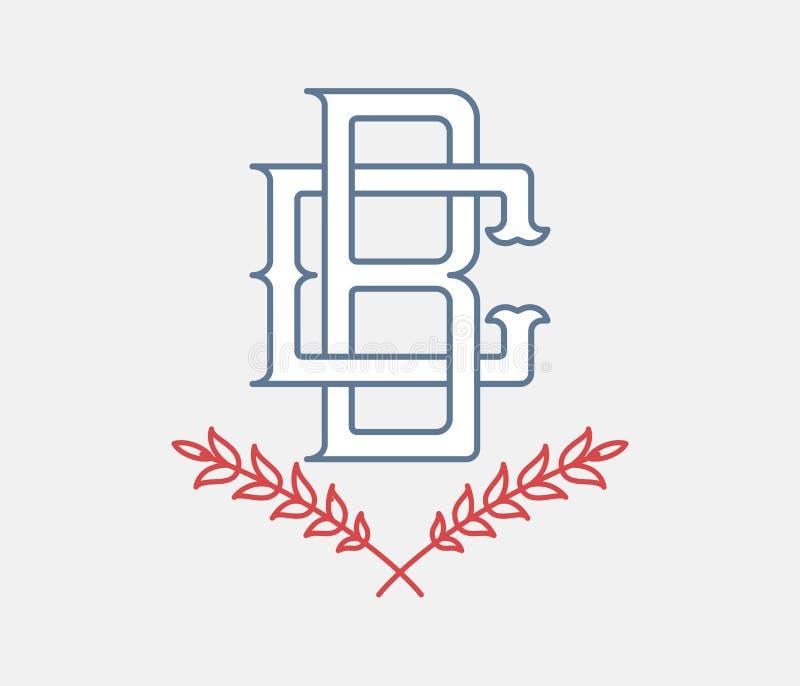 Baseball Wstawia się monogram ilustracja wektor