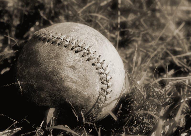 Baseball1sepia fotografie stock libere da diritti