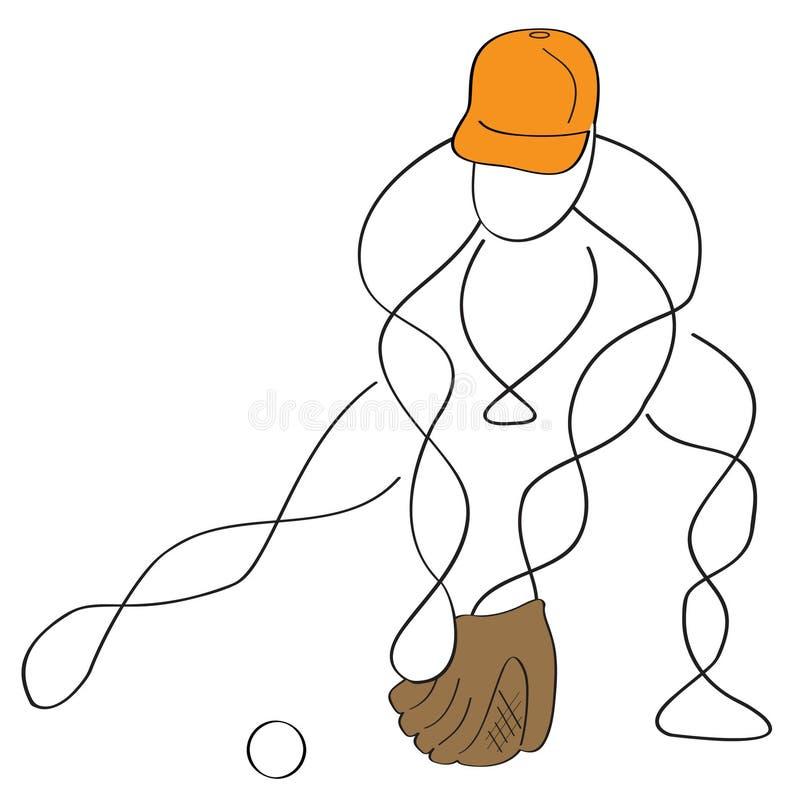 baseballa łącznik royalty ilustracja