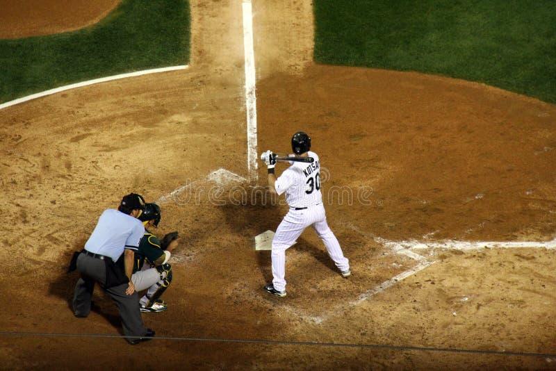 baseballa bazowy nietoperz najpierw kotsay zdjęcie royalty free