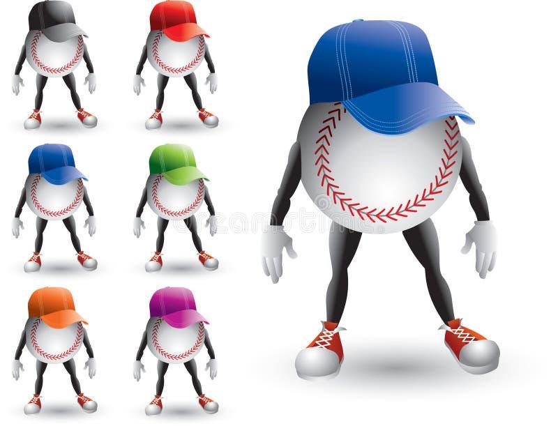 baseballa charakterów odosobniony naliczków target1646_0_ ilustracji