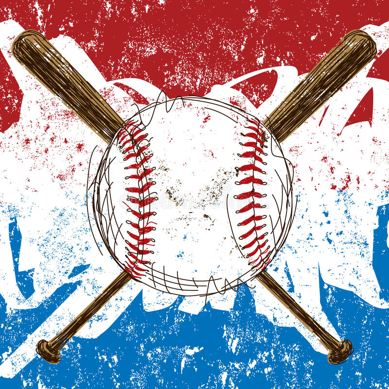 Baseballa Chorągwiany tło ilustracja wektor