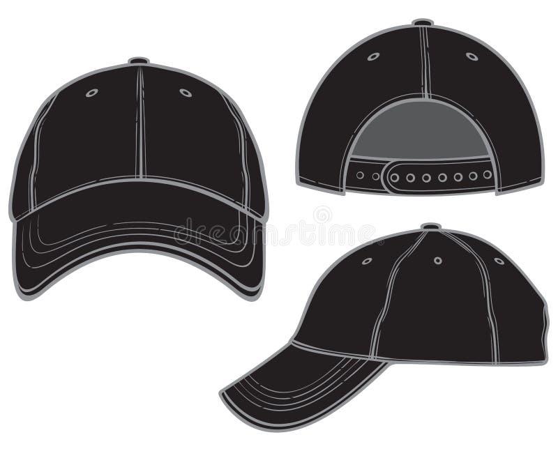 baseballa czerń nakrętka ilustracji