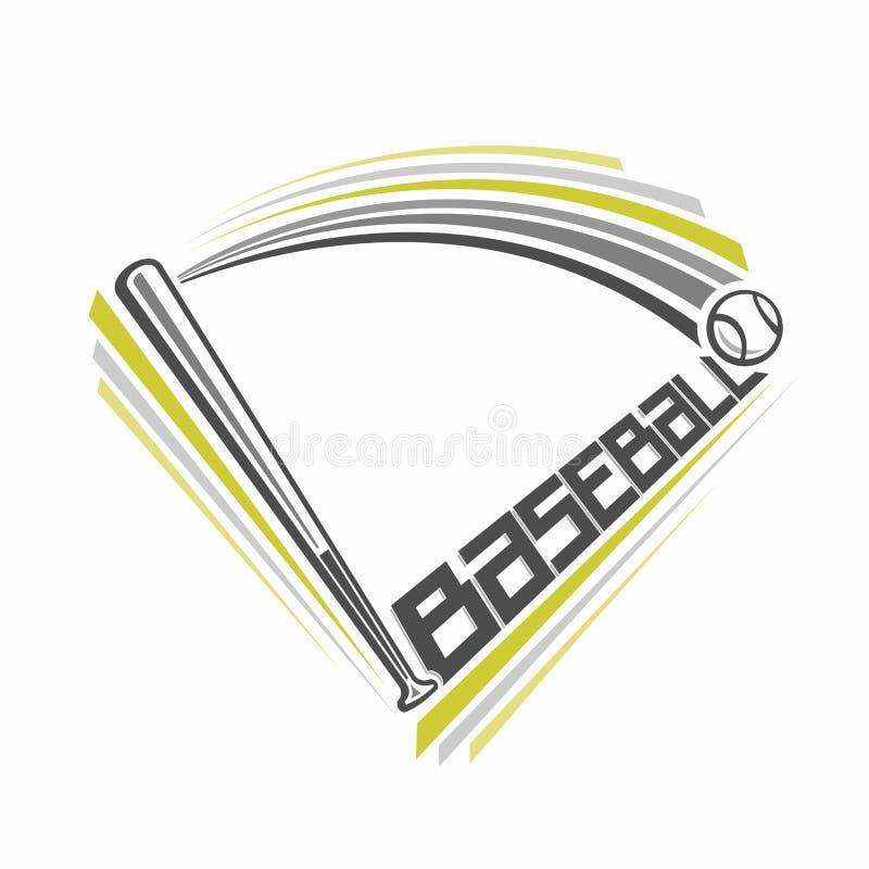 Baseballa emblemat ilustracji