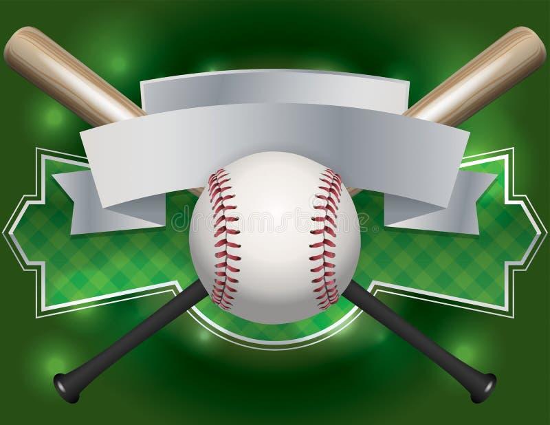 Baseballa emblemat i sztandar ilustracja ilustracji