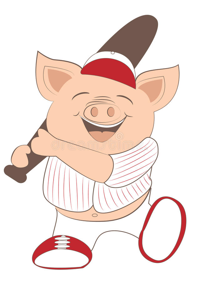 Baseball świnia ilustracji