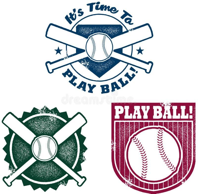 baseballa grafika softballa stylu rocznik ilustracji