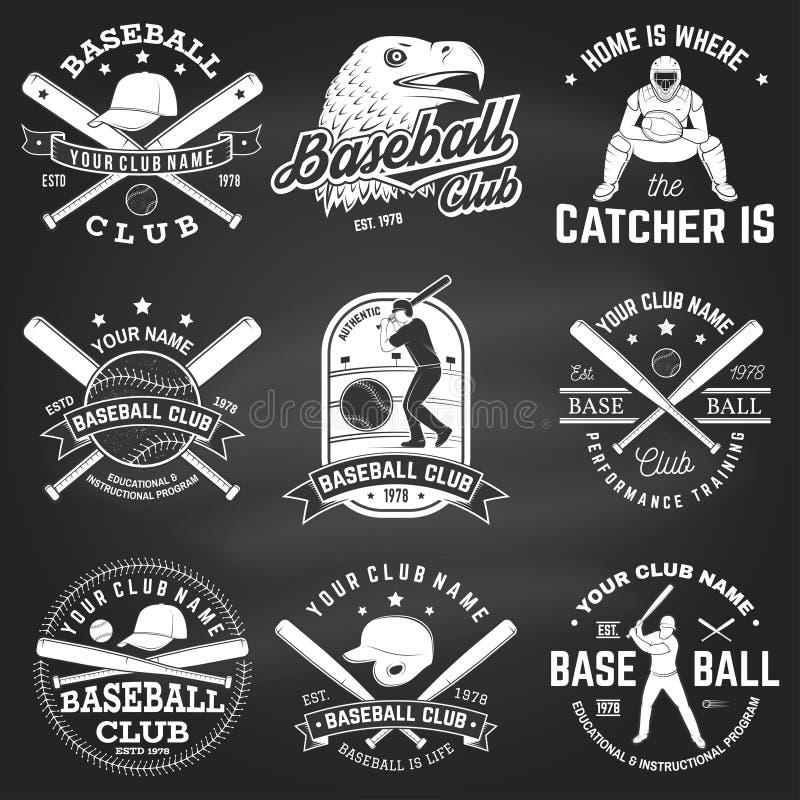 Baseballa klubu odznaka również zwrócić corel ilustracji wektora Pojęcie dla koszula, logo, druk, znaczek lub trójnik, ilustracja wektor