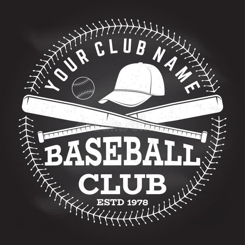 Baseballa klubu odznaka również zwrócić corel ilustracji wektora Pojęcie dla koszula, logo, druk, znaczek lub trójnik, ilustracji