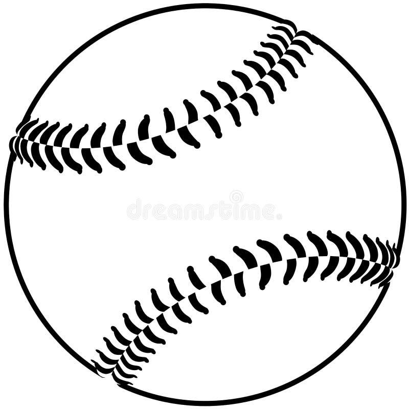 Baseballa kontur ilustracja wektor