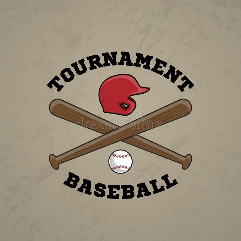 Baseballa logo E ilustracji
