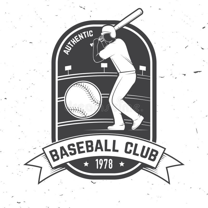 Baseballa lub softballa świetlicowa odznaka również zwrócić corel ilustracji wektora Pojęcie dla koszula, logo, druk, znaczek lub ilustracja wektor