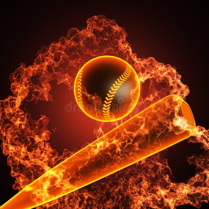baseballa ogień ilustracji