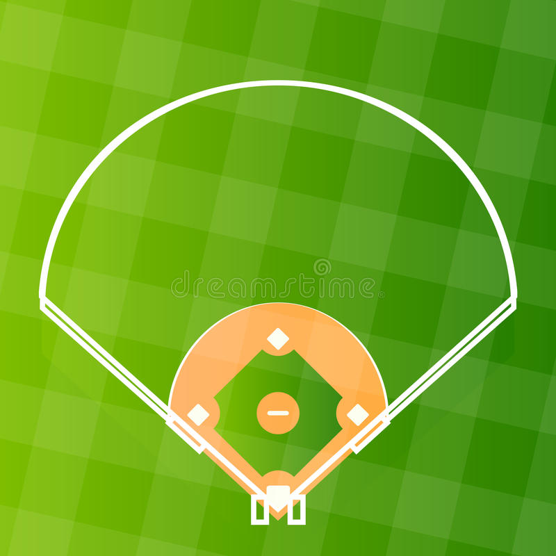 baseballa pola stały bywalec wektor ilustracji