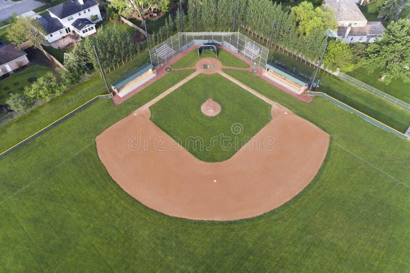 Baseballa pola widok z lotu ptaka obrazy stock