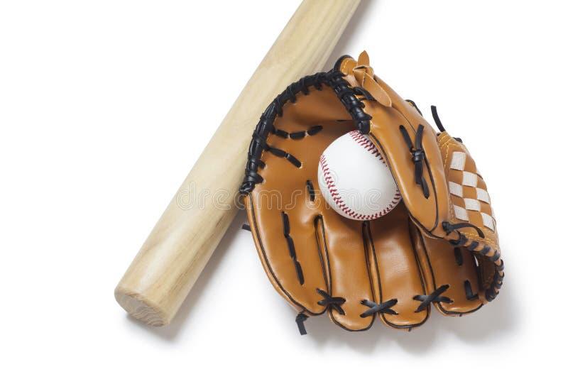 baseballa rękawiczka, nietoperz i piłka, obrazy royalty free